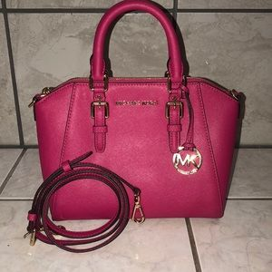 18ba05d012b0 Michael Kors Bags | Mk Grayson Rose Satchel Purse Large | Poshmark